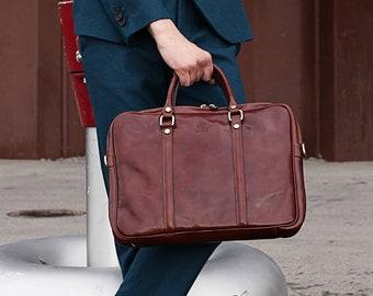 Leather briefcase, Leather laptop bag,  Leather bag, leather messenger bag, Graduation gift, gift for him - The Hobbit