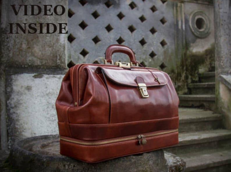 446127470c92 Personalized Leather Doctor Bag, Men's Large Medical Bag, Leather Handbag  for Women, Travel bag - The Master and Margarita