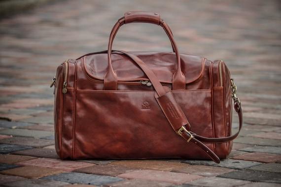 Leather travel bag Mens leather duffel bag Weekender bag   Etsy 02246cd604