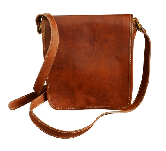 Small leather messenger bag Mens leather bag Personalized  6e7405fc61424