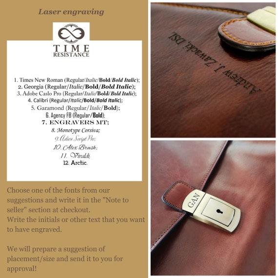 Men's Laptop Bag, Leather Briefcase, Leather Document Bag, Personalized  Gift, Leather Portfolio - Arthur