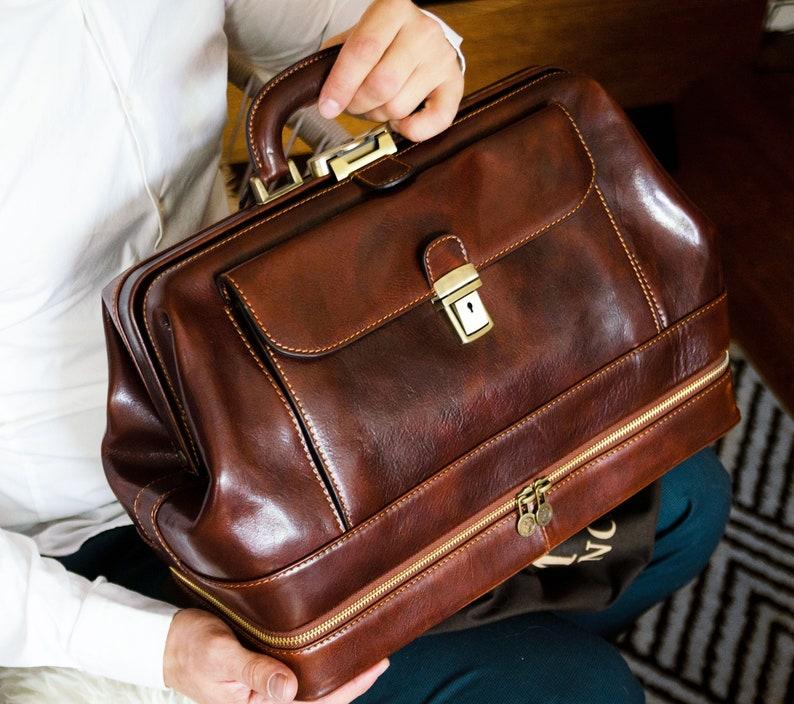 Vintage Handbags, Purses, Bags *New* Personalized Leather Doctor Bag Mens Large Medical Bag Leather Handbag for Women Travel bag Valentine Gift - The Master and Margarita $315.05 AT vintagedancer.com