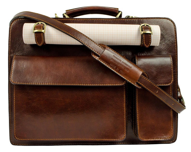 caee4a7f8363 Leather work bag Mens briefcase Graduation gift Leather | Etsy