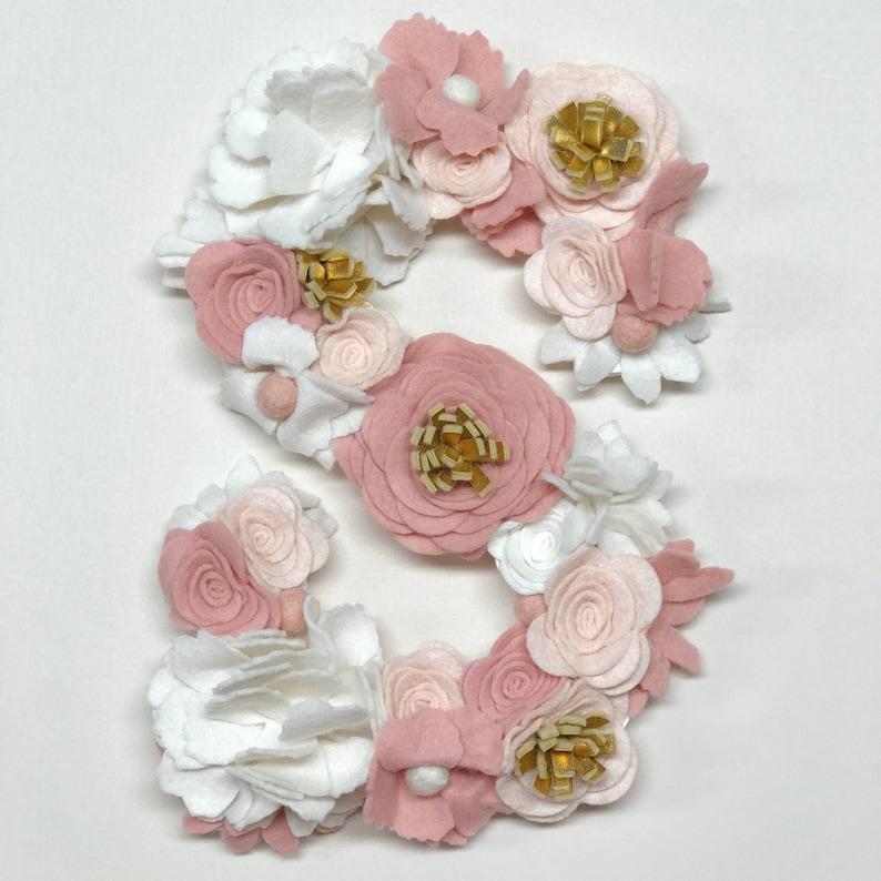 Faux Flower Letter