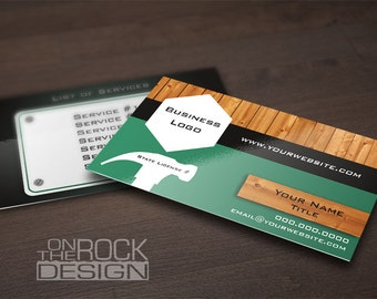 Custom ambit energy business cards digital file or printing etsy custom contractor handyman business cards digital file or printing free ups ground shipping bc002 accmission Choice Image