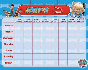 Toddler Potty Chart Etsy