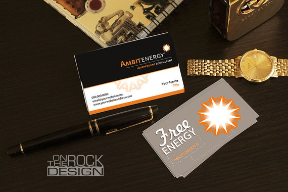 Custom ambit energy business cards digital file or printing etsy image 0 friedricerecipe Image collections