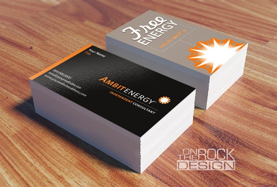 Custom ambit energy business cards digital file or printing colourmoves
