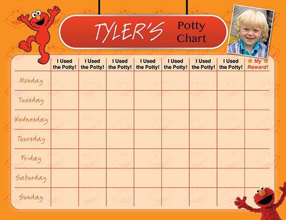 elmo potty chart potty training chart potty reward chart