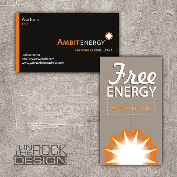 Custom ambit energy business cards digital file or printing etsy custom ambit energy business cards digital file or printing free ups ground shipping bc004 cheaphphosting Choice Image