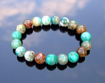 3d4ea94ed Phoenix Chrysocolla 10mm Natural Gemstone Bracelet 6-9'' Elasticated  Healing Stone Chakra Reiki With Pouch Free Uk Shipping