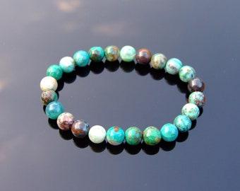 76e8fa7e0 Phoenix Chrysocolla Natural Gemstone Bracelet 6-9'' Elasticated Healing  Stone Chakra Reiki With Pouch Free Uk Shipping