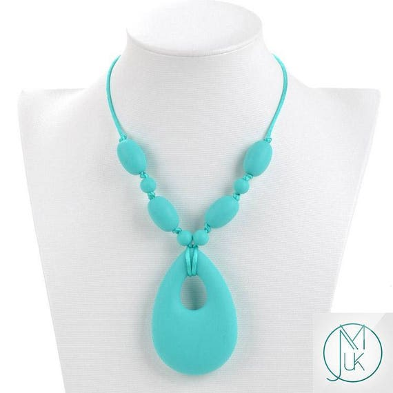 Teething Necklace Baby Teether Autism Sensory Chew Silicone Pendant T