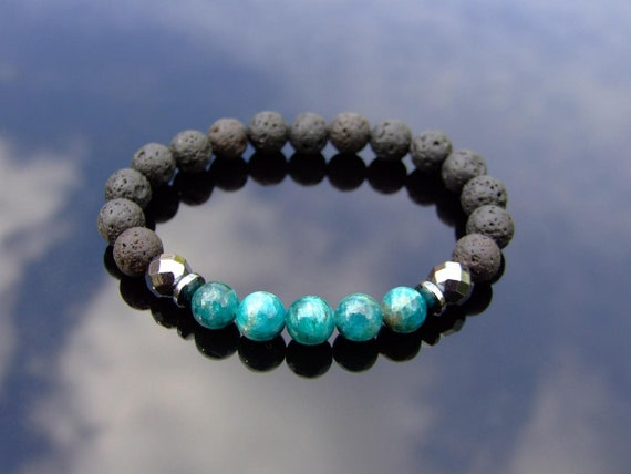 Couple Calcite//Agate Natural Gemstone Bracelet 6-9/'/' Elasticated Healing Stone