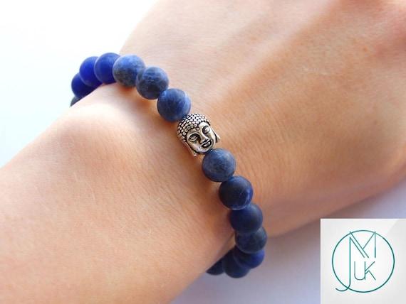 Buddha Tigers Eye//Onyx Natural Gemstone Bracelet 6-9/'/' Elasticated Healing Stone