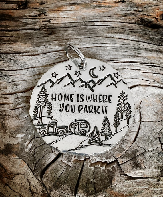 Home is where you park it gift hand stamped gift camper