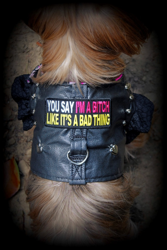 Queen Bitch Girl Patch For women/'s Biker Motorcycle Jacket or Vest New Pink Red