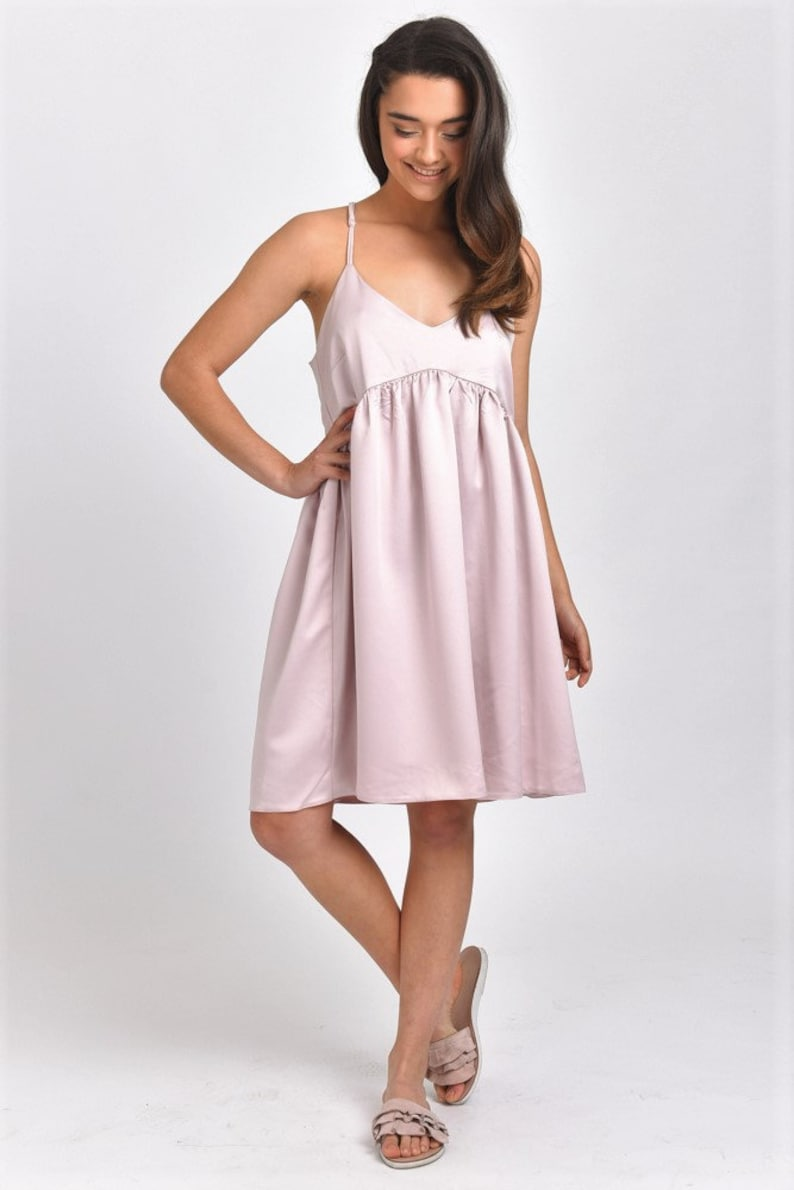 a77a6292743 SALE Clothing Women Satin Dress Sundress Pink Satin Dress