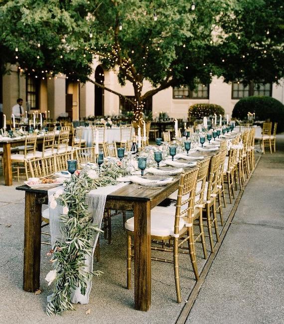 Wedding Decor Sale Sample Sale Linen Dusty Blue Coral Navy Blush Rose Floral Table Linens Gauze Sale Discount Decor