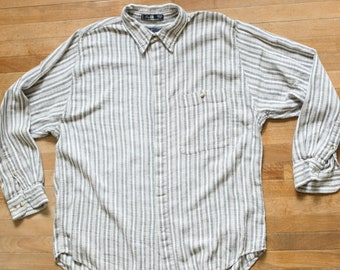 Striped 100% Cotton Button Up