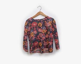 Handmade Floral L/S shirt XS