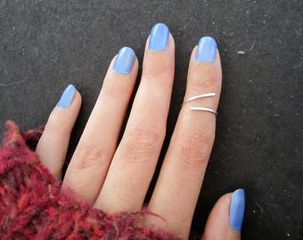 Sterling silver phalanx ring - adjustable - minimalist