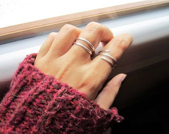 Lot - 3 Sterling Silver Stackable Rings
