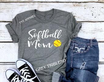 48b1224f Softball Mom Shirt    Softball Moms    Softball Shirts    Softball Gift For  Mom    Softball Mom Tshirt    Softball Moms    Unisex Clothing