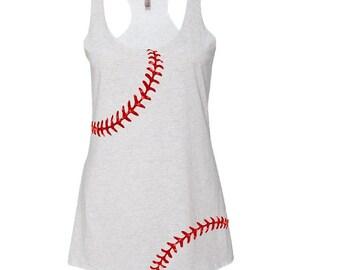 78b608a1d0eca Baseball Mom Tank Top