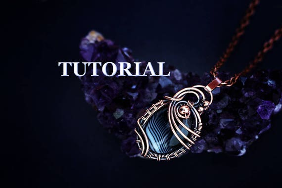 Wire Wrap Tutorial Wire Wrapped Pendant Tutorial Wire Etsy