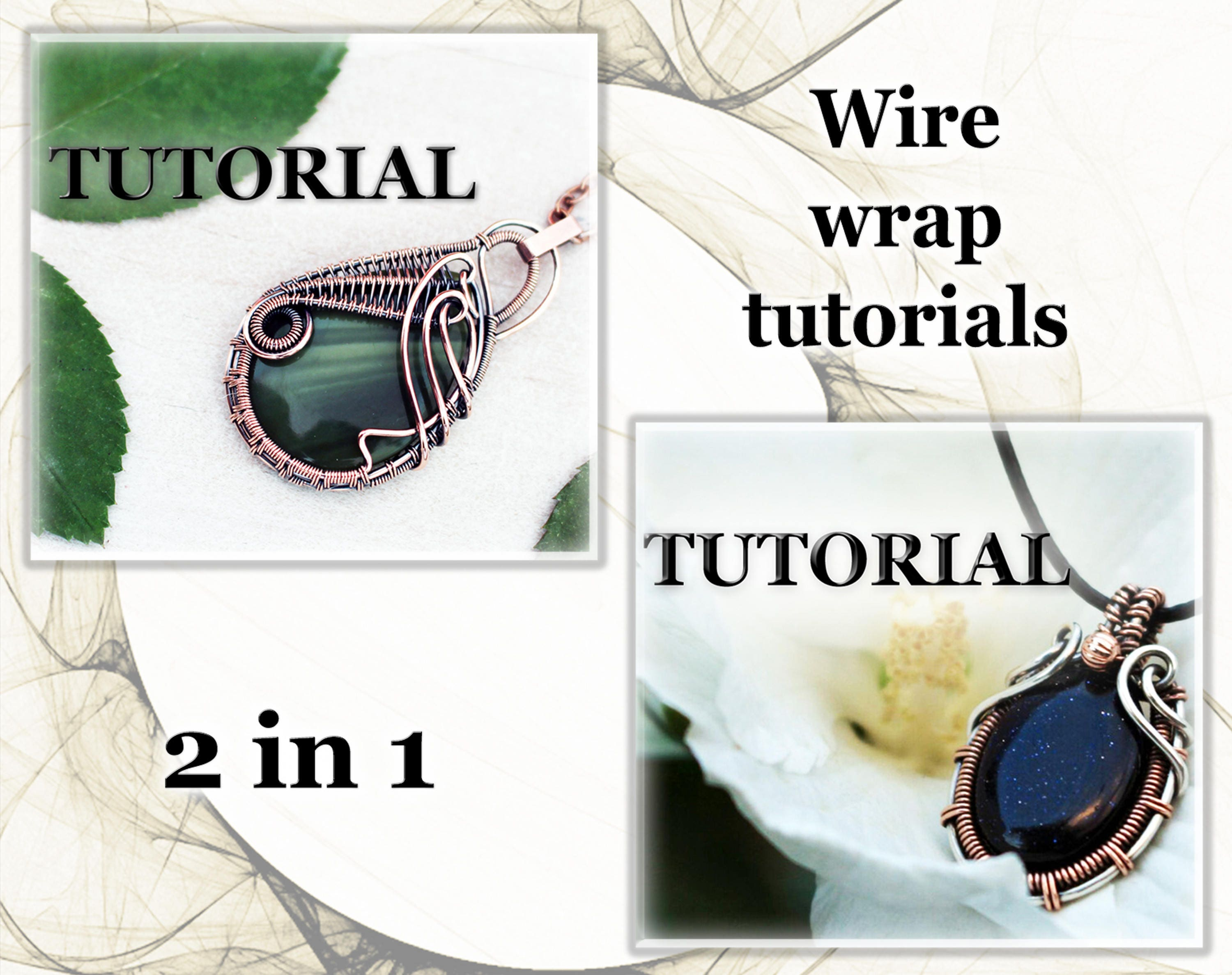 Wire wrap tutorial 2 in 1 Wire wrapped pendant tutorial
