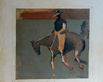 Jumping Jacks - Giclee Fine Art Poster Print on canvas