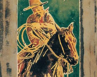 Cowboy Under a Half Moon
