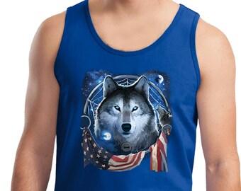 Men's USA Wolf Dream Flag Tank Top 21906D2-2200