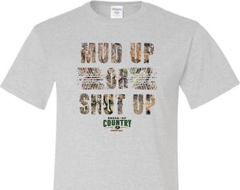 Men's Mossy Oak Mud Up Or Shut Up Tall Tee T-Shirt 20868HD2-PC61T