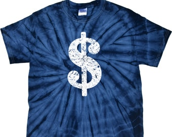 05f481faf Men's Funny Shirt Distressed Dollar Sign Spider Tie Dye Tee T-Shirt DOLLAR -1000S