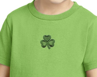 St Patrick's Day Shamrock Patch Middle Print Toddler Shirt 695794-MP-CAR54T