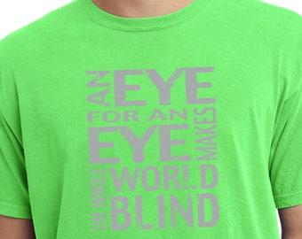 Men's An Eye for an Eye Pigment Dyed Tee T-Shirt EYEFOREYE-PC099