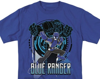 fbb47cf911a Power Rangers Blue Ranger Royal Shirts