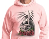 Day of the Dead Candle Skull Hoodie 19410HL2-PC90H
