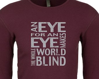 Men's An Eye For An Eye Makes The Whole World Blind Thermal Shirt EYEFOREYE-N8201