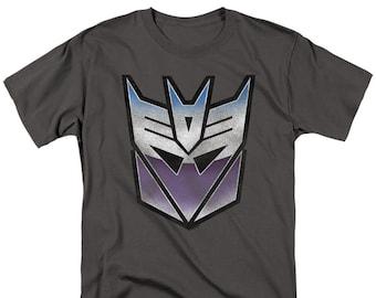 Violet Decepticons Logo Insigne 25 mm Transformers Decepticons Autobots IMAGE