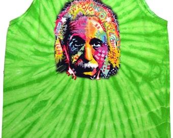 cc1536c427f043 Men s Funny Tanktop Einstein Tie Dye Tank Top 18486NBT4-3500