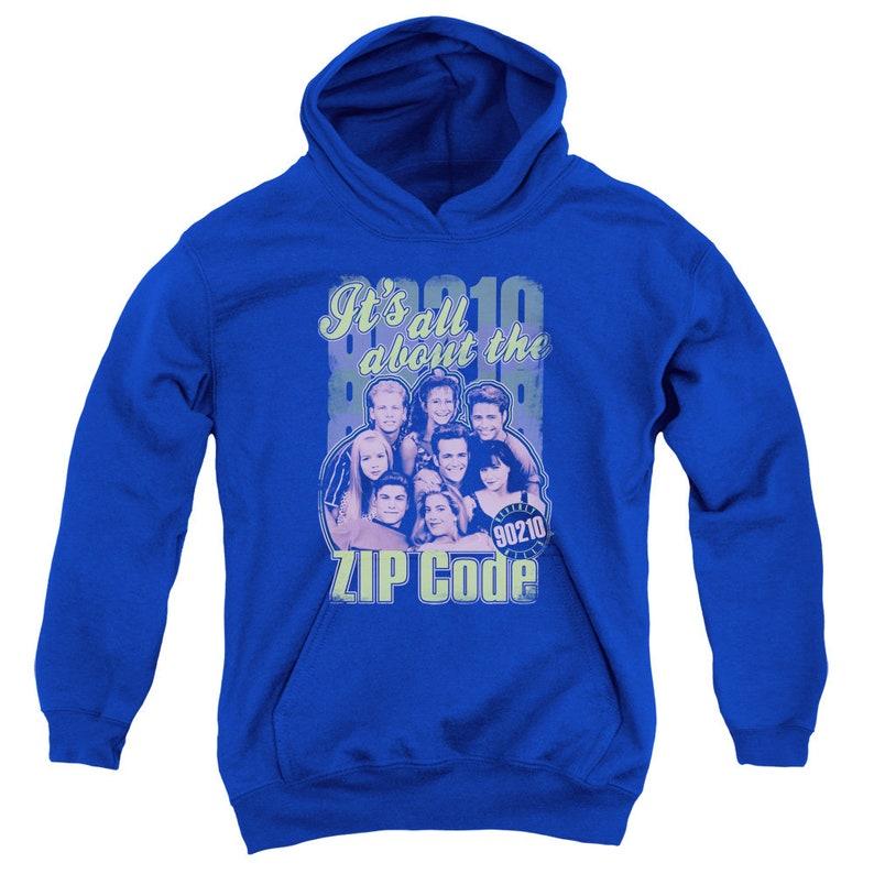 Beverly Hills 90210 Zip Code Kid/'s Royal T-Shirts