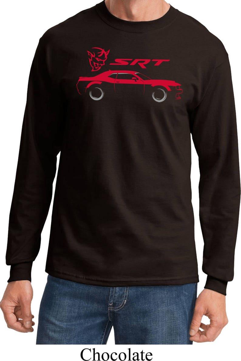 b901d634 Men's Dodge Challenger SRT Silhouette Long Sleeve Tee | Etsy