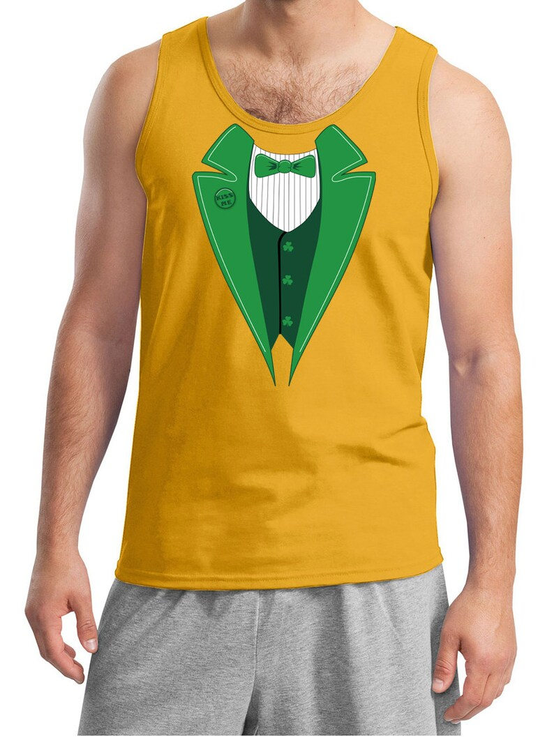 a826990f St Patrick's Day Men's Tanktop Irish Tuxedo Tank Top | Etsy