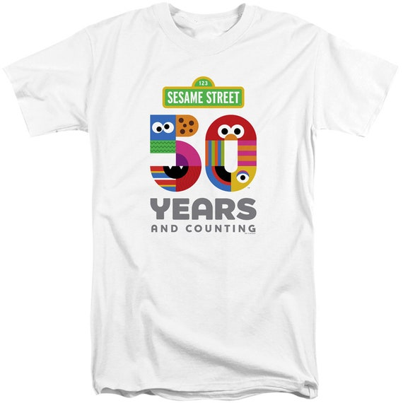 Sesame Street FLOWERS FOR YOU Licensed Adult T-Shirt All Sizes