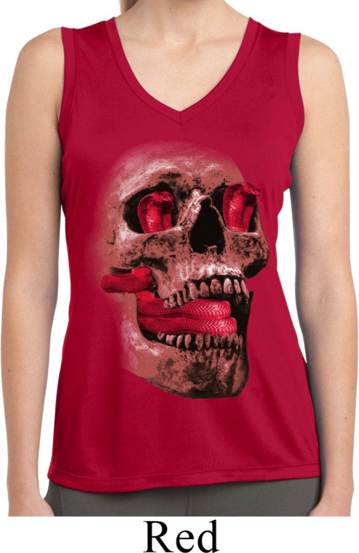 290eeae6e6d5e Ladies Halloween Shirt Cobra Skull Moisture Wicking Sleeveless