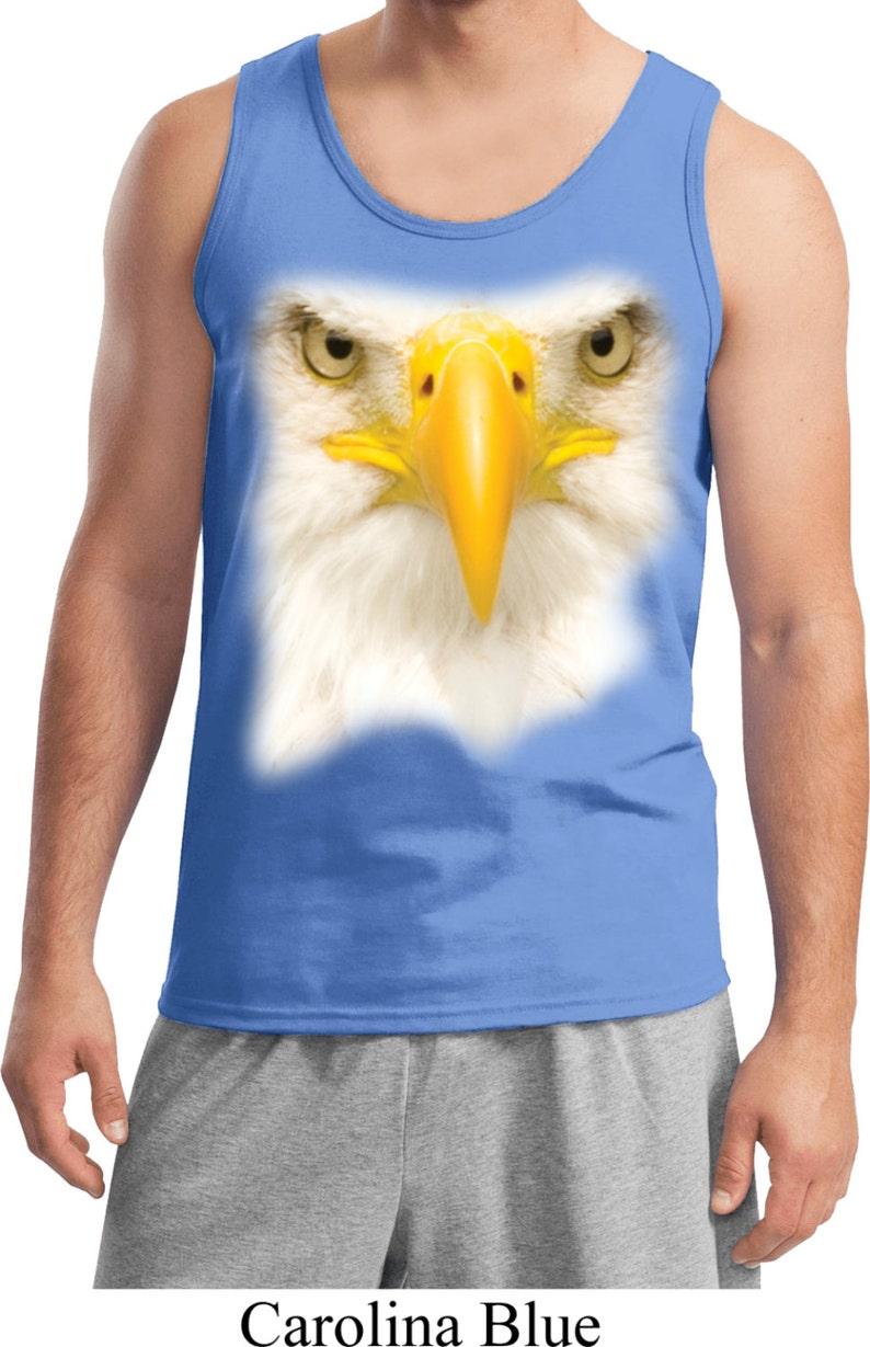 Men/'s Big Bald Eagle Face Tank Top 17698HL0-2200
