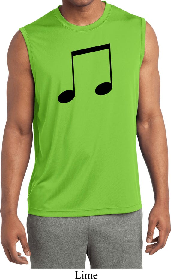 48637a1190fed Men s Music 8th Note Sleeveless Moisture Wicking Tee